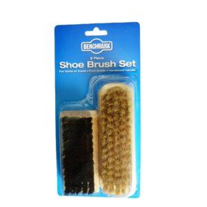 Benchmark Twin Pack Shoe Brushes photo