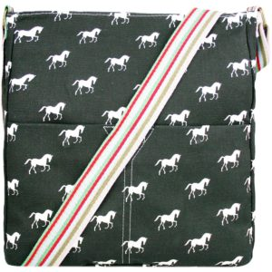 miss lulu canvas square bag horse black photo